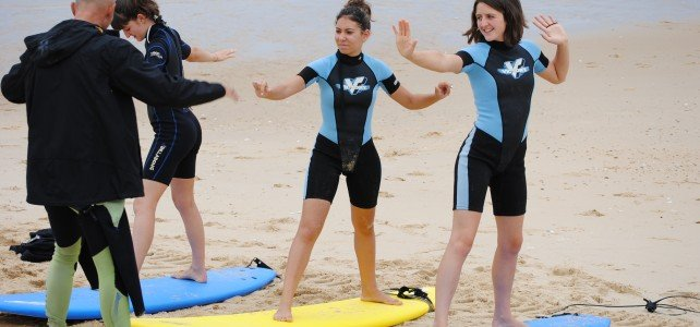surf lessons around hossegor
