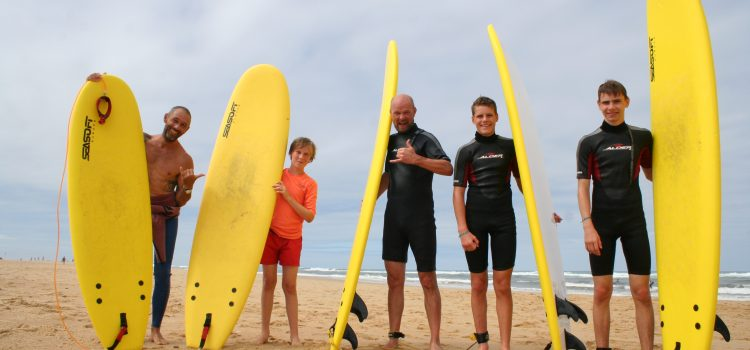 surf guiding lessons