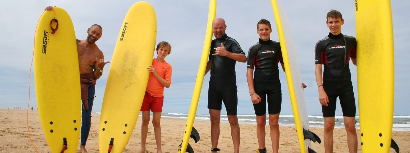group surf lessons hossegor